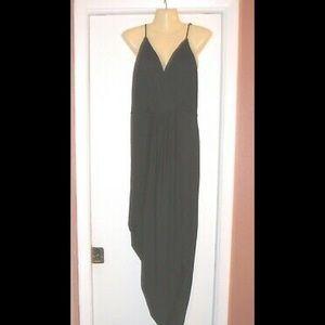 Charlotte Russe Black faux wrap MAXI DRESS 4x